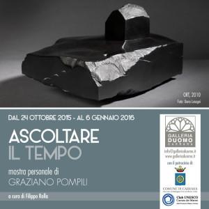 Ascoltare il tempo, mostra personale di Graziano Pompili - Locandina